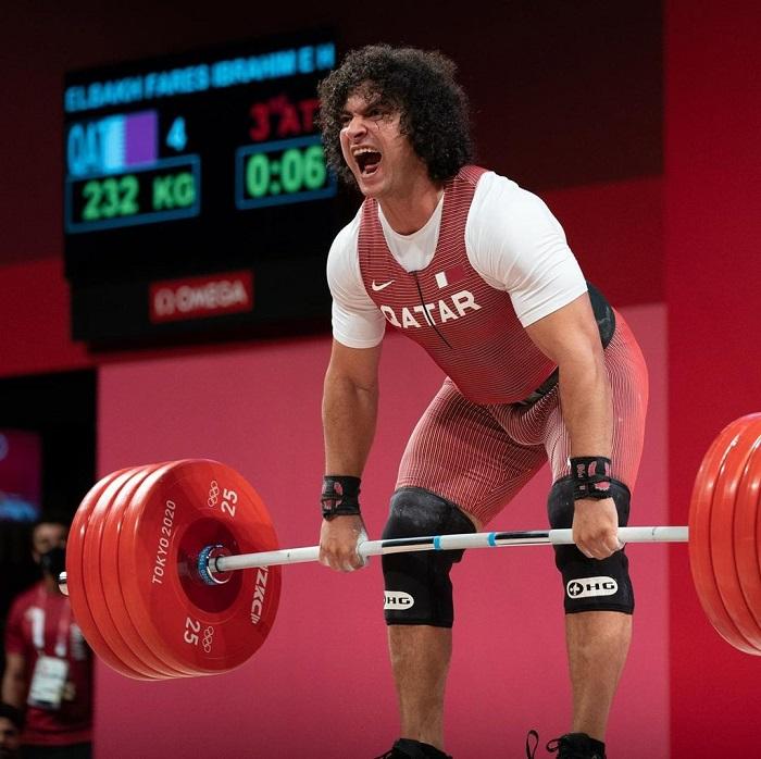 Qatari weightlifter Elbakh bags gold in men's 96kg