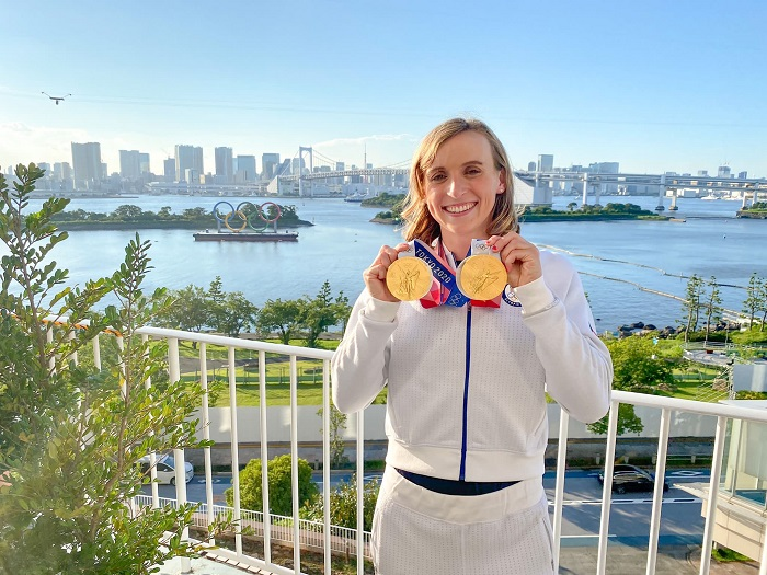 Swimming great Katie Ledecky claims record 6th individual gold