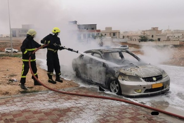 Vehicle fire reported in Salalah