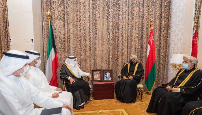 البوسعيدي يلتقي وزير الخارجية الكويتي في إيران