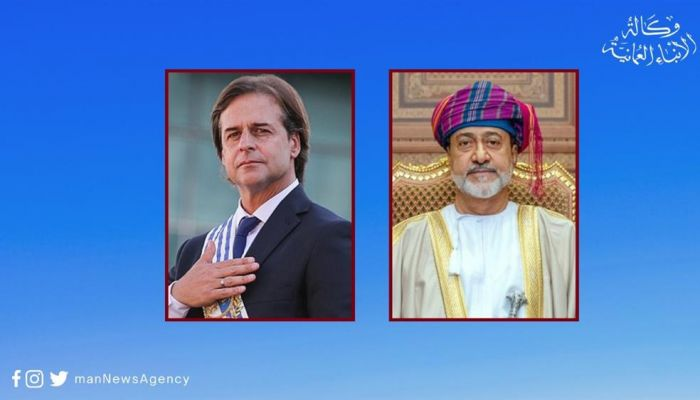 جلالةُ السُّلطان يهنّئ رئيس الأورجواي بذكرى استقلال بلاده