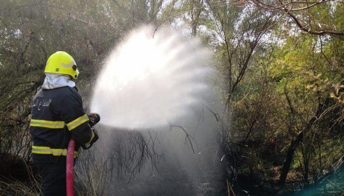 السيطرة على حريق مزرعة بولاية بدبد
