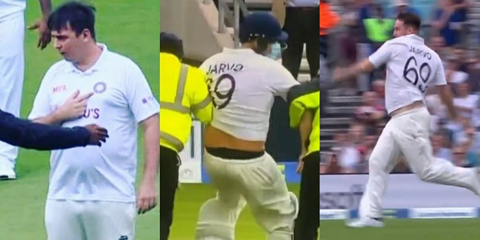 Jarvo 69 arrested on 'suspicion of assault' after he invades pitch at Oval