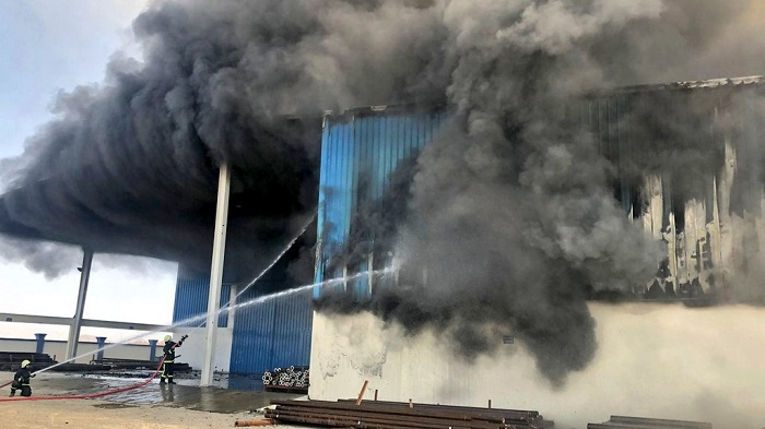 Fire at factory in Dussur Industrial Area extinguished