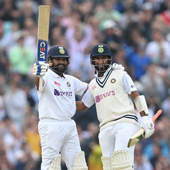 Rohit scores ton as India extend lead to 100