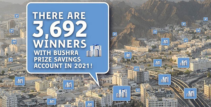 More than 2000 winners with Bushra Prize Savings Account in 2021 so far