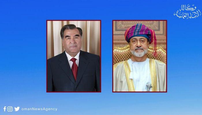 جلالة السلطان يهنئ رئيس جمهورية طاجيكستان
