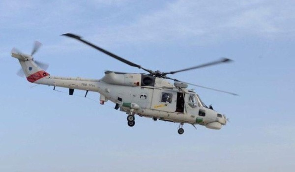 Man evacuated from merchant ship by Royal Air Force of Oman