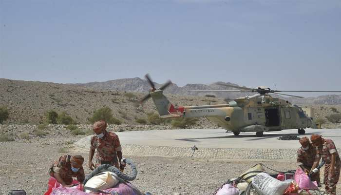 Royal Air Force of Oman transfers consumer goods to remote villages in Al Dakhiliyah