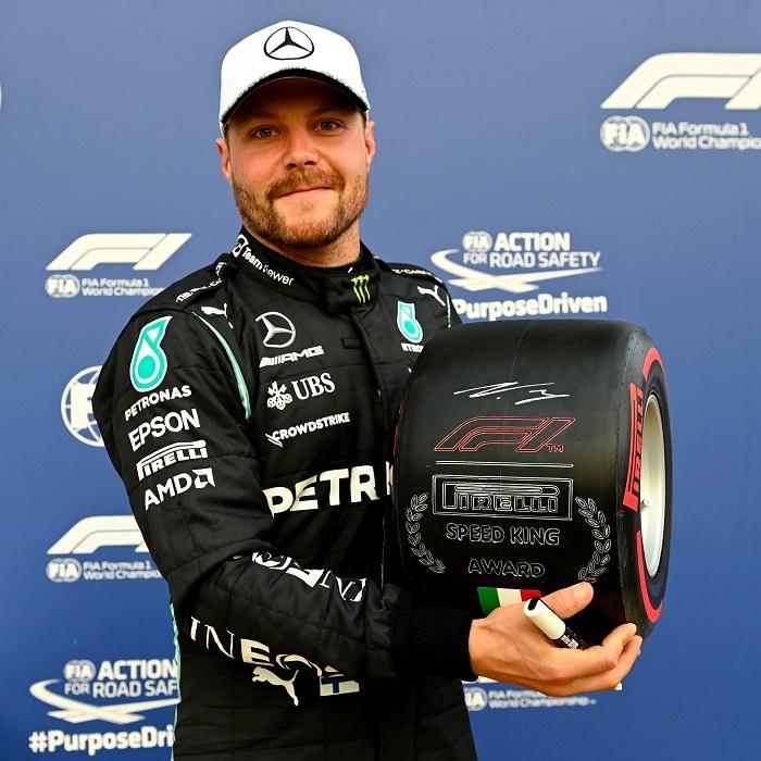 Italian GP: Valtteri Bottas wins sprint but Max Verstappen takes pole