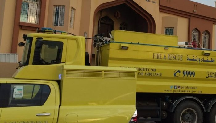 حريق في مدرسة خاصة بولاية عبري
