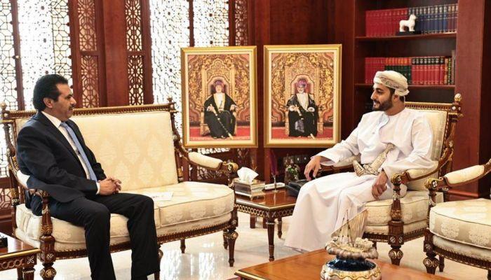 السيد ذي يزن يتسلم رسالة خطية من وزير الثقافة الأردني