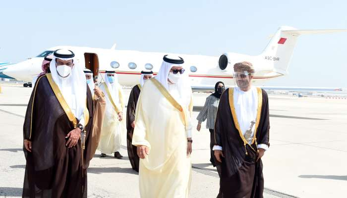 Bahraini Foreign Affairs Minister arrives in Oman