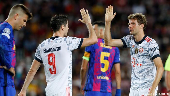 Champions League: Lewandowski strikes twice as Bayern Munich defeat Barcelona