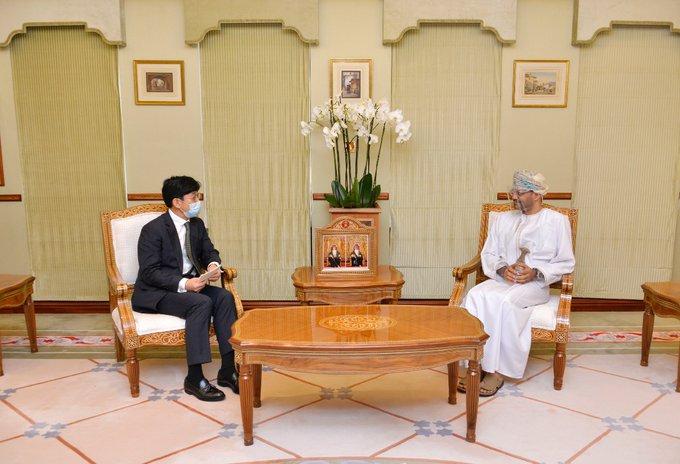 السيد بدر يستقبل نائب وزير الخارجية الكوري