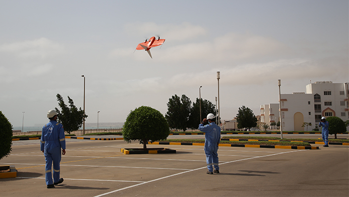 Sezad uses drones for mapping and topographical surveying of zone