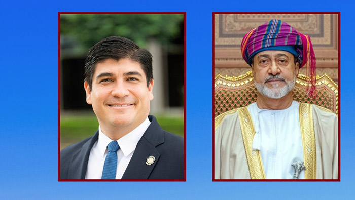 His Majesty sends cable of greetings to Costa Rica