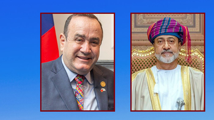 His Majesty greets President of Guatemala