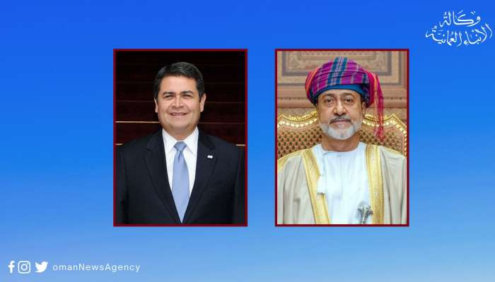 His Majesty the Sultan greets President of Honduras