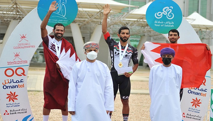 Emirati cyclist Khaled Mayouf bags first place in Salalah Cycling Tour