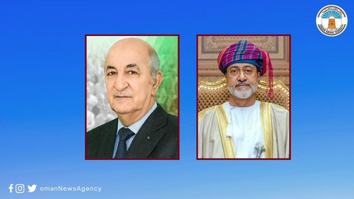 His Majesty sends cable of condolences to Algerian President