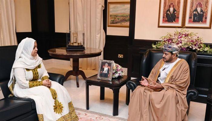 نيابة عن جلالة السلطان .. السيـد فاتك بن فهر يستقبل سفيرة إثيوبيا