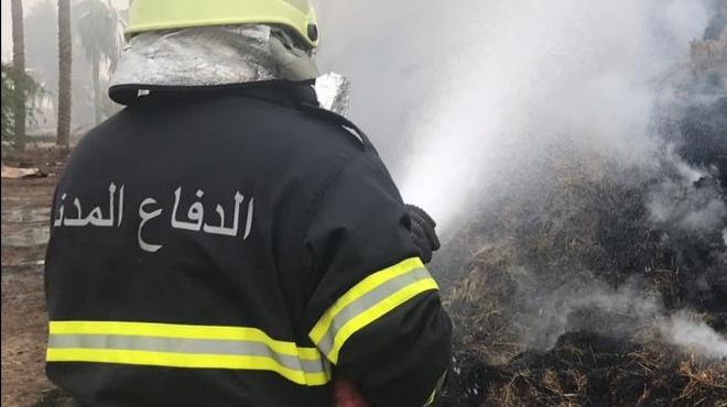 الدفاع المدني يتعامل مع حريق في ولاية السيب
