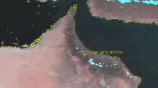 هطول أمطار رعدية على أجزاء من محافظة جنوب الباطنة
