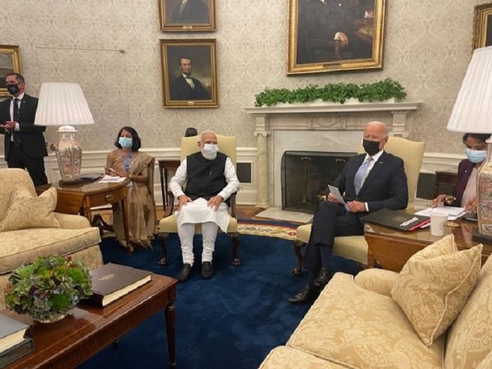 PM Modi meets Joe Biden at White House