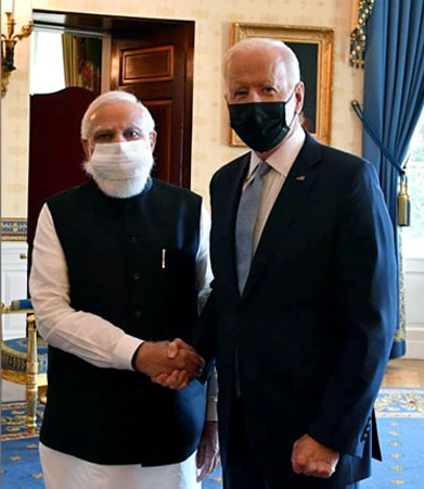 Ties with India destined to be stronger, closer and tighter: Biden