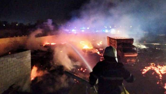 Firefighters douse fire at farm in Oman