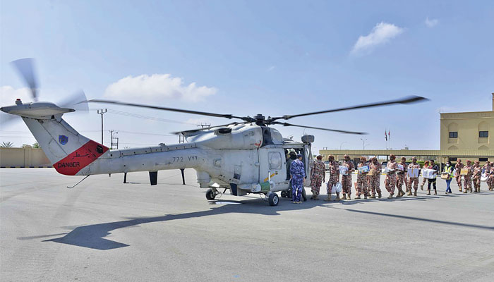 Military, ROP take active role in relief, rebuilding after cyclone Shaheen