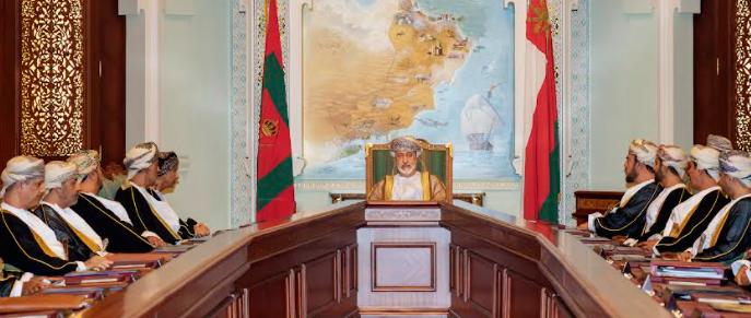 بالصور.. جلالة السلطان يترأس اجتماع مجلس الوزراء