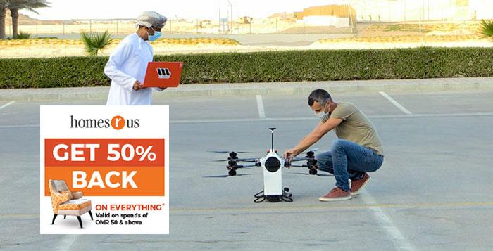 Drones deliver post, food parcels in Duqm as part of experiment