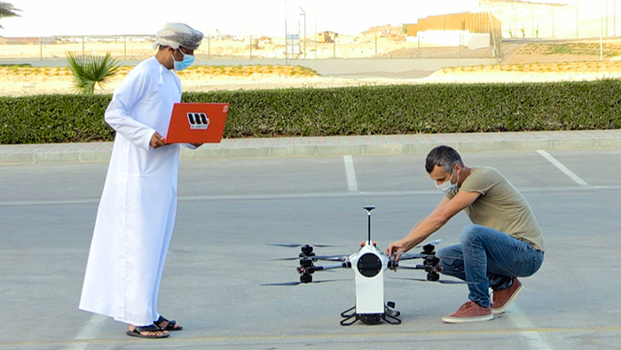 Sezad conducts drone experiments for delivering postal and food parcels
