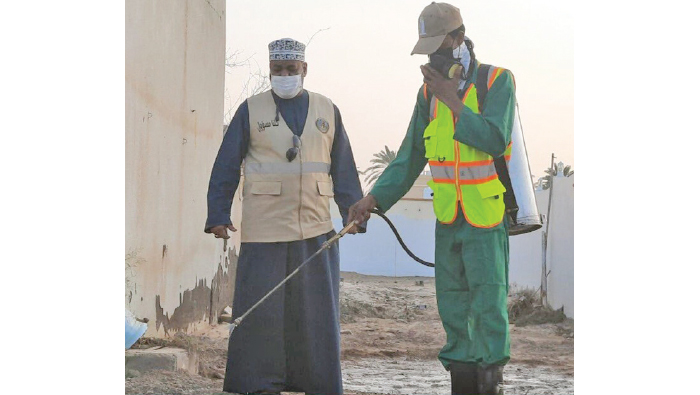 Dhofar municipal workers help colleagues in cyclone-hit north